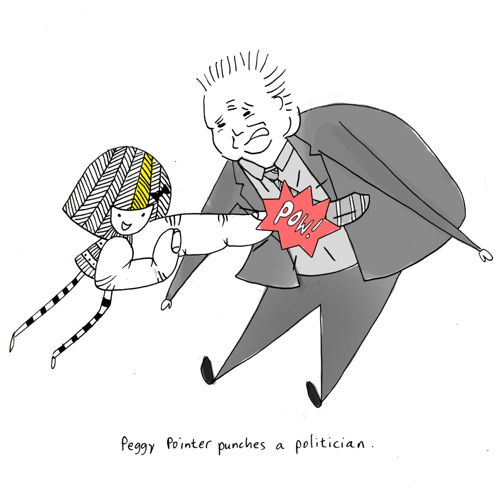 peggy pointer punches a politician