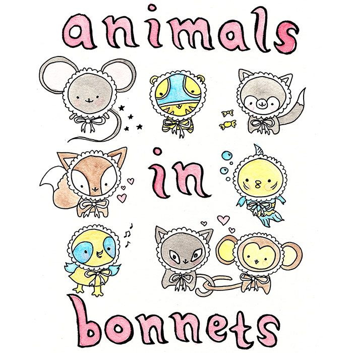 animals in bonnets