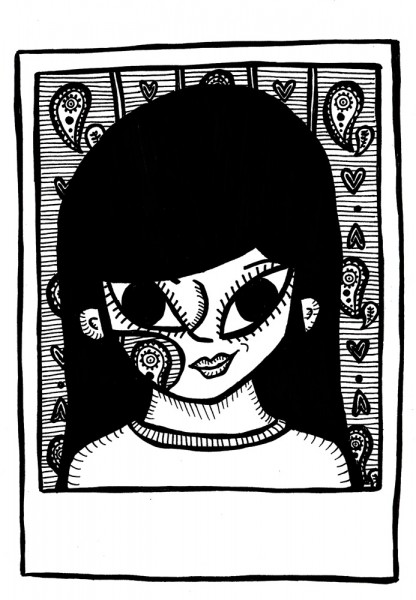 girl with hole in her face
