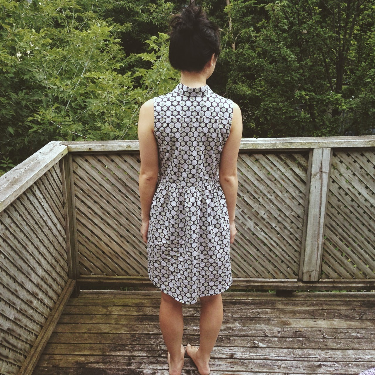 Alder Shirtdress View B, back view.