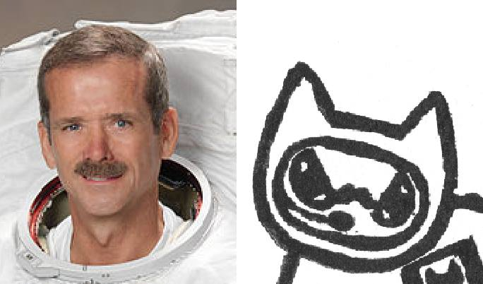 commander catfield chris hadfield comparison