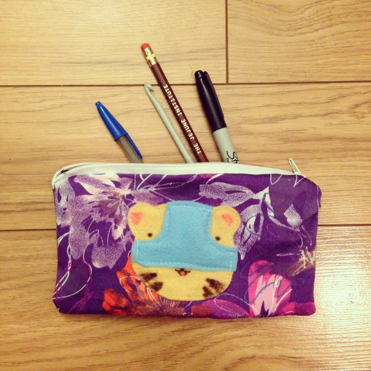 underwear tiger pencil case