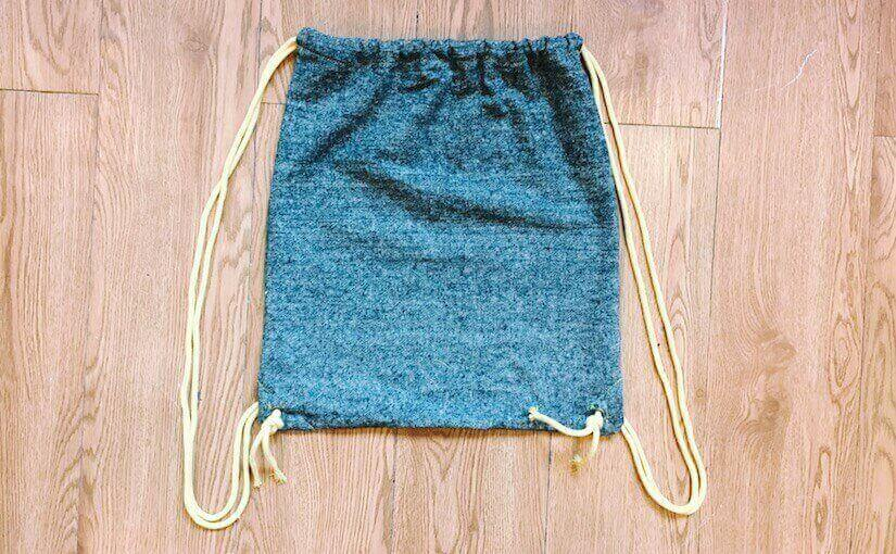 diy drawstring bag tutorial